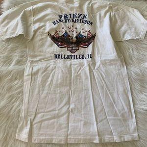 Frieze Harley-Davidson eagle pocket t-shirt